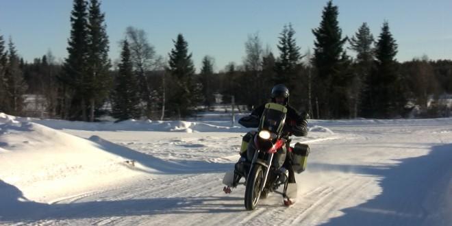 MC med skidor