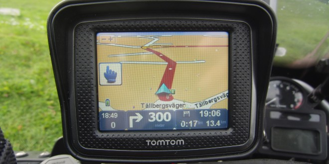 Slingrande vägar med GPS